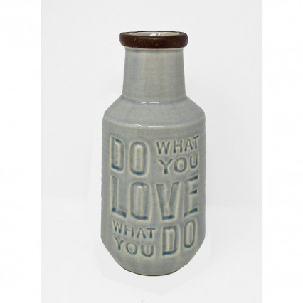 "9"" Do What You Love What You Do Ceramic Vase"