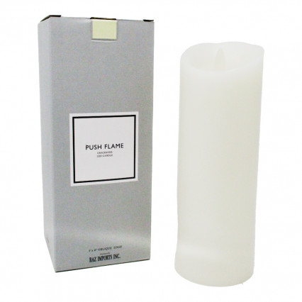 "Ivory Push Flame Candle - 3""x8"""