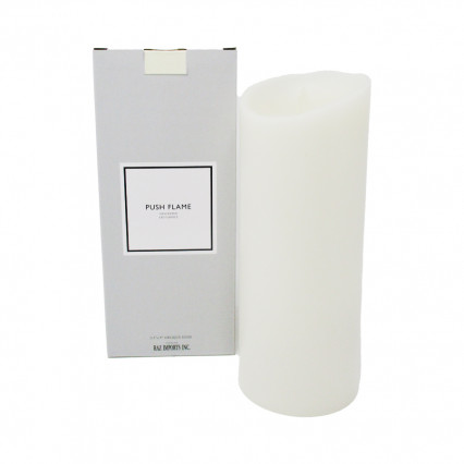 "Ivory Push Flame Candle - 3.5""x9"""