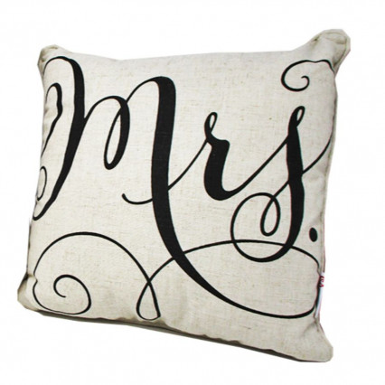 "17"" Mrs. Decorative Accent Throw Pillow"