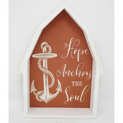 Hope Anchors the Soul Wooden Beach Sign