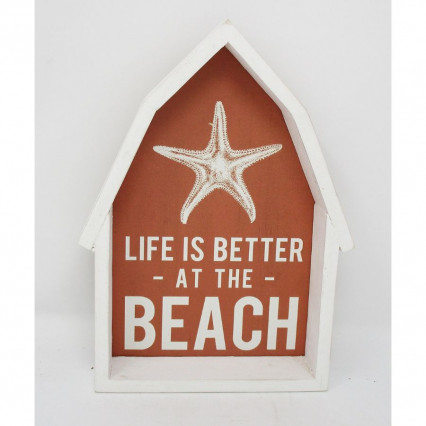 Life is Better Wooden Beach Sign