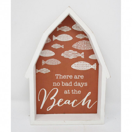 "9.5"" There Are No Bad Days Wooden Beach Sign"