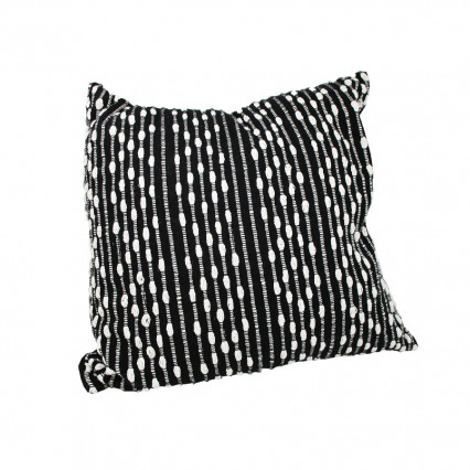 "20"" Black and White Accent Throw Pillow"