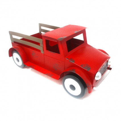 Metal Red Truck Planter