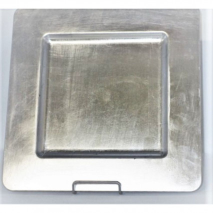 "Charger Plate 13"" Square Silver"