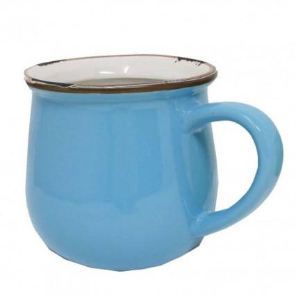 Decorative Cup Planter Blue - not for food use