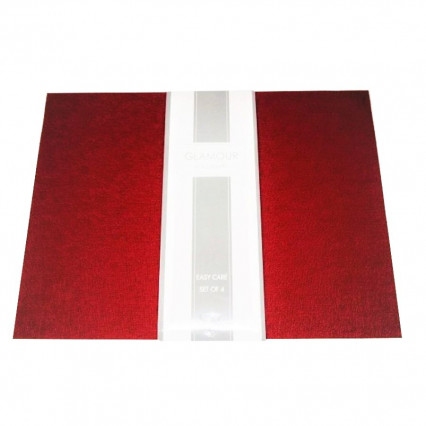 Brick Red Woven Vinyl Placemat Set of 4