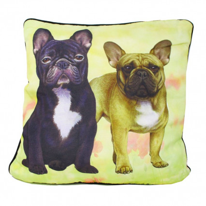 French Bulldogs Indoor Outdoor Accent Throw Pillow