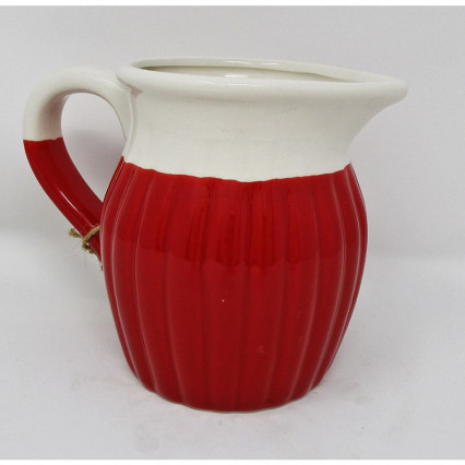 "5"" La Cucina Red and White Pitcher"