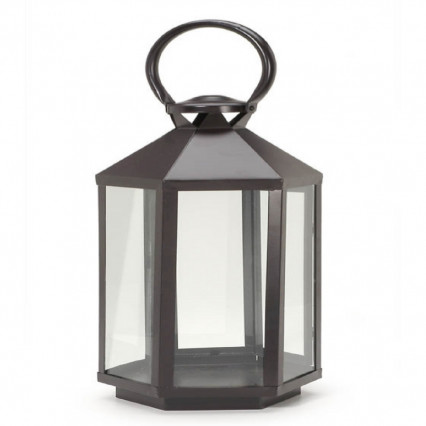 "15"" Hexagon Metal Lantern"