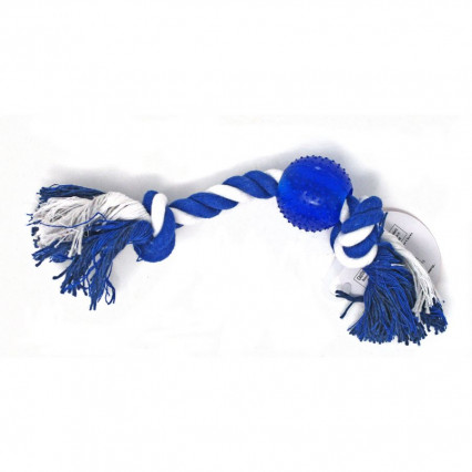 Dog Rope Toy Blue Ball