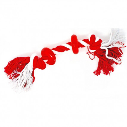 Dog Rope Toy Red Rings