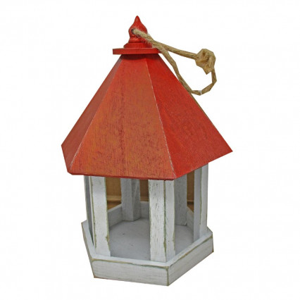 "9"" Wooden Birdhouse - Red"