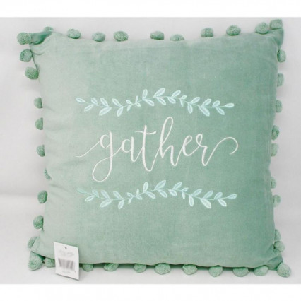 Gather Mint Green Velvet Accent Throw Pillow