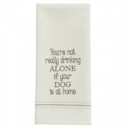 Dog At Home Dishtowel