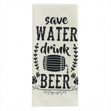 Save Water Drink Beer Dishtowel