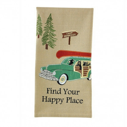 Find Our Happy Place Dishtowel