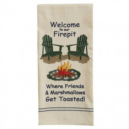 Welcome To The Firepit Dishtowel