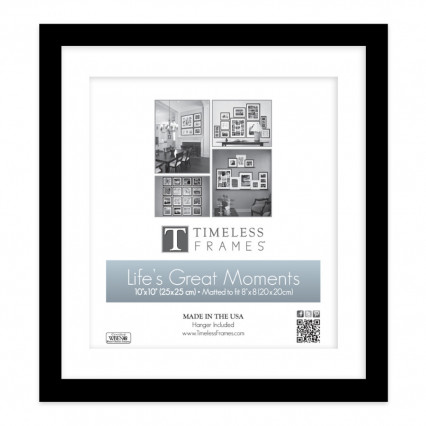 Life's Great Moments Collage Frame - 10x10, 8x8 Matte Black