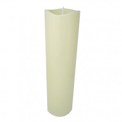 Candle LED with Timer - Ivory 18.25""