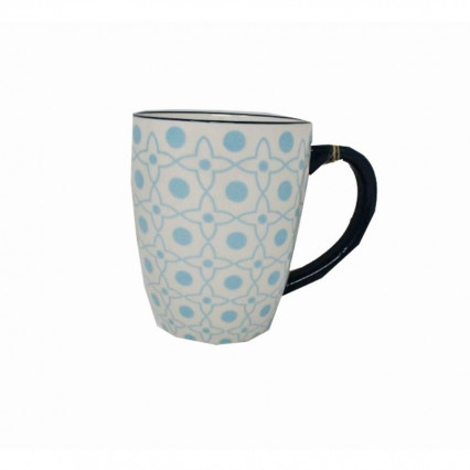 Blue and White Design Ceramic Mug