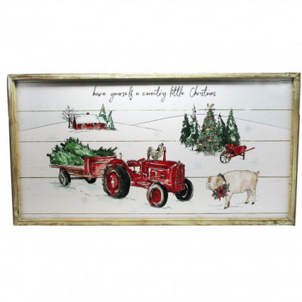 Have Yourself a Country Little Christmas Wooden Sign
