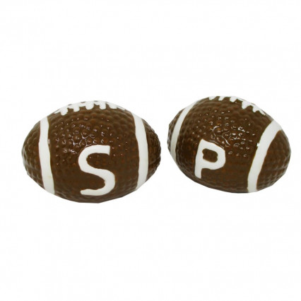 Football Decorative Ceramic Salt and Pepper Shaker Set