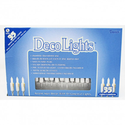 DecoLights Super Bright Lights - 35 Clear Bulbs