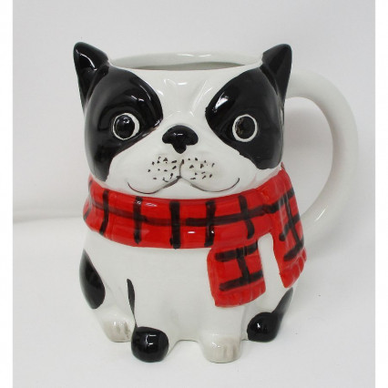 Black and White Boston Terrier Mug