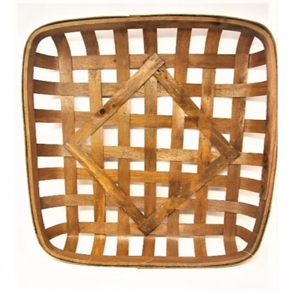 "Tobacco Basket-20"" Square Brown"