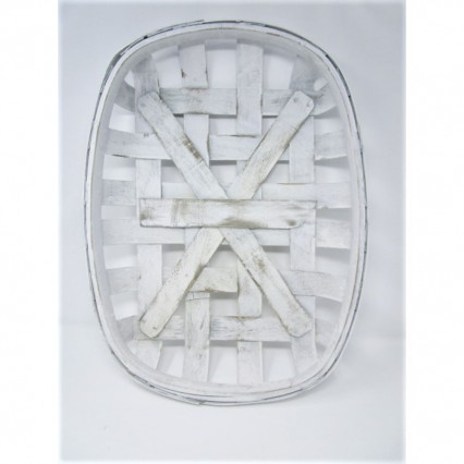 "Tobacco Basket - 15""x21"" Oval White"
