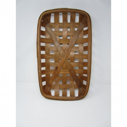 "Tobacco Basket - 11"" Rectangular Brown"