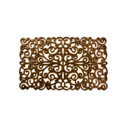 Scroll Gold Rubbber Doormat