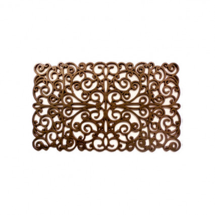Scroll Bronze Rubbber Doormat