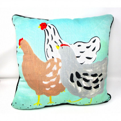 Chickens Rooster 2-sided Accent Throw Pillow