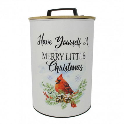 Have Yourself a Merry Enamelware Metal Canister