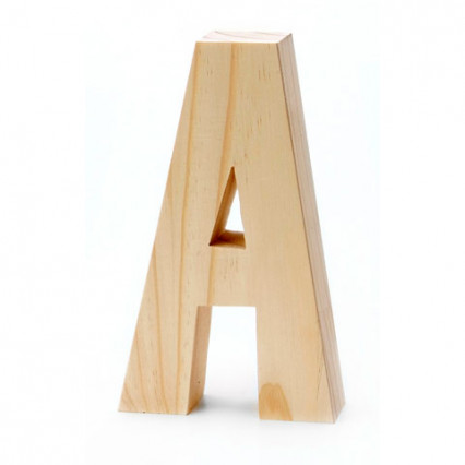 "Chunky Wood Letter - 8"" - A"