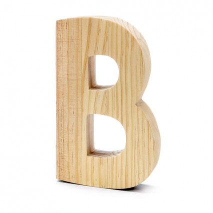 "Chunky Wood Letter - 8"" - B"