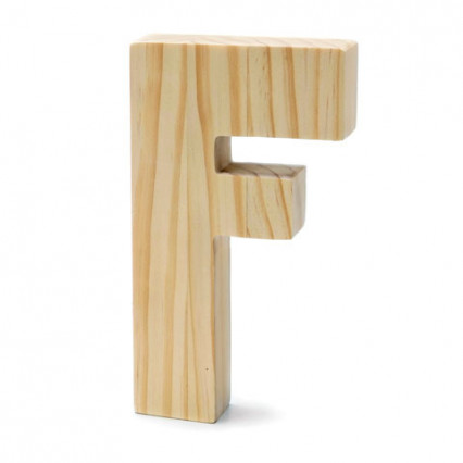 "Chunky Wood Letter - 8"" - F"
