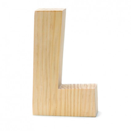 "Chunky Wood Letter - 8"" - L"