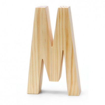 "Chunky Wood Letter - 8"" - M"