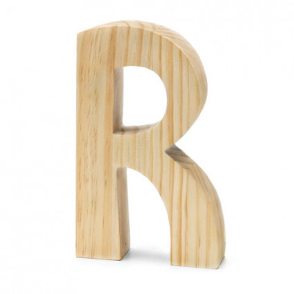 "Chunky Wood Letter - 8"" - R"