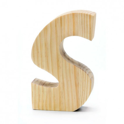 "Chunky Wood Letter - 8"" - S"