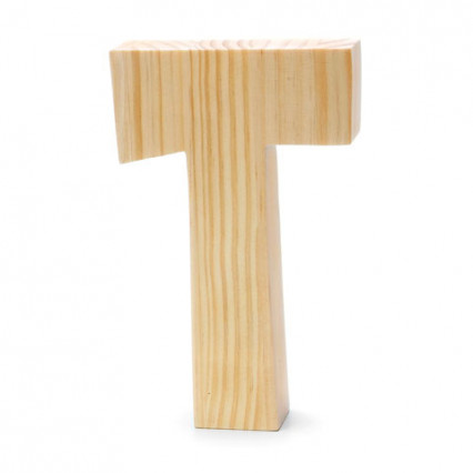 "Chunky Wood Letter - 8"" - T"