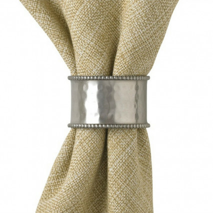 Hammered Cuff Napkin Ring - Pewter