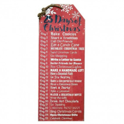25 Days of Christmas Wooden Sign