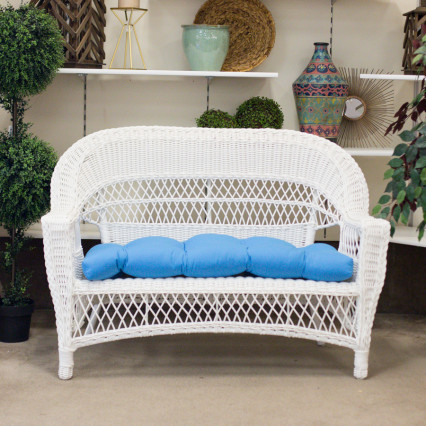 Aruba White Loveseat