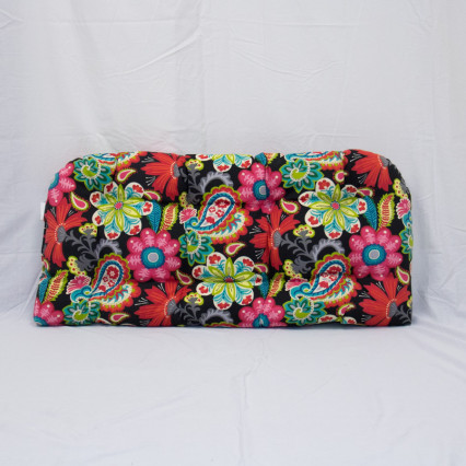 Flower Child Spectrum Settee Cushion - Black