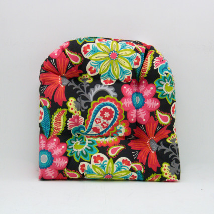 Flower Child Spectrum Chair Cushion - Black